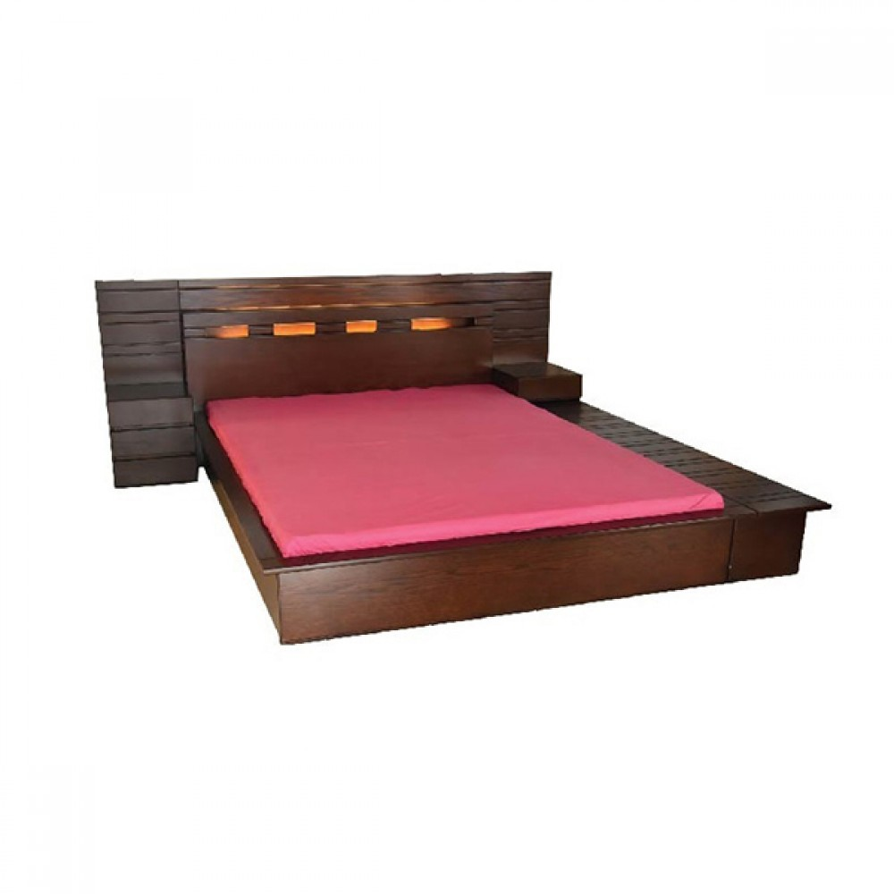 Crown Bed with Bed Side Table